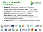 who is in the asia leds partnership