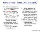 arp protocol same lan network