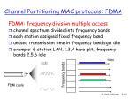 channel partitioning mac protocols fdma