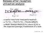 release after reception utilization analysis