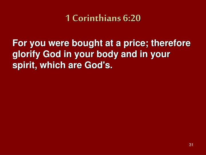 1 Corinthians 6:20