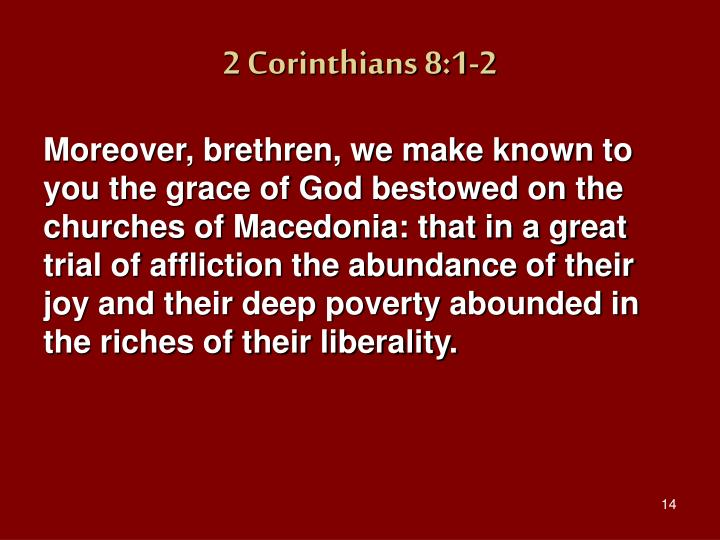 2 Corinthians 8:1-2