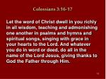 colossians 3 16 17