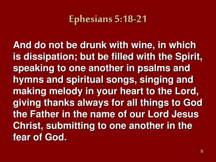 Ephesians 5:18-21