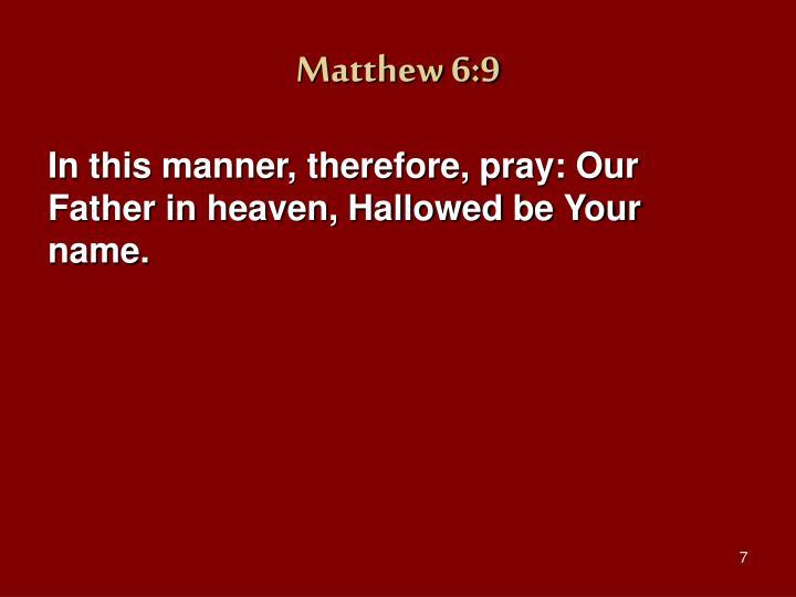 Matthew 6:9
