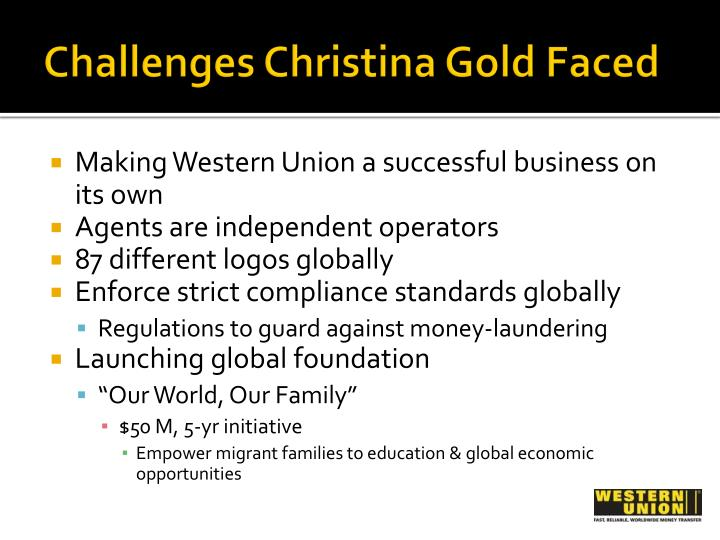 Challenges Christina Gold Faced