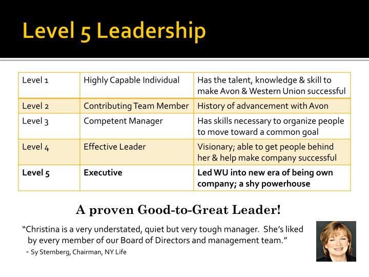 Level 5 Leadership
