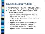 physician strategy update