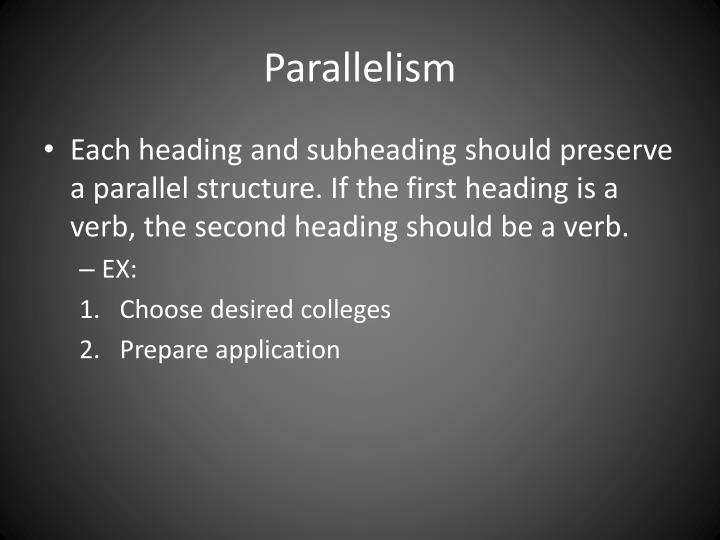 essay using parallelism You want to master parallel structure in academic writing read a guide on parallelism from the best essays writers we help you handle academic writing.