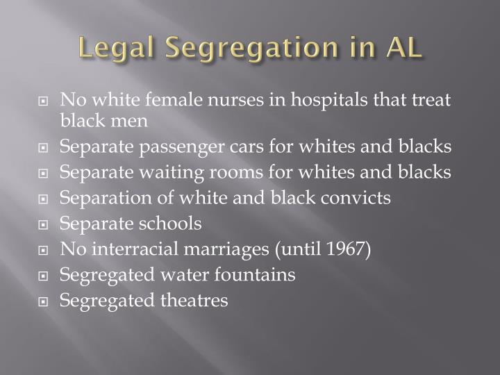 Legal Segregation in AL