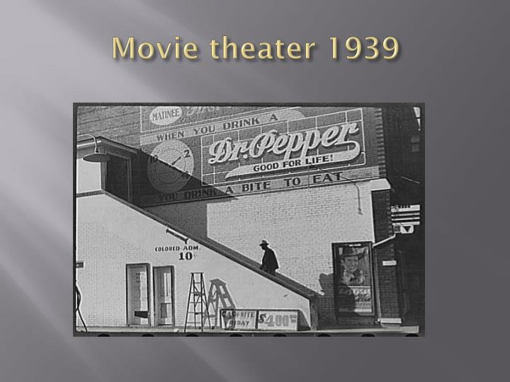 Movie theater 1939