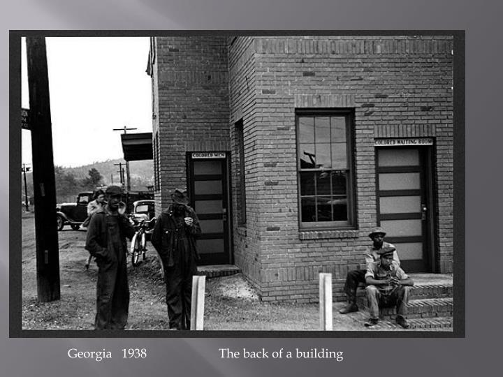 Georgia   1938 The back of a building