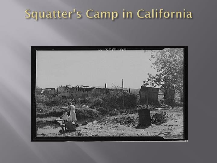 Squatter's Camp in California