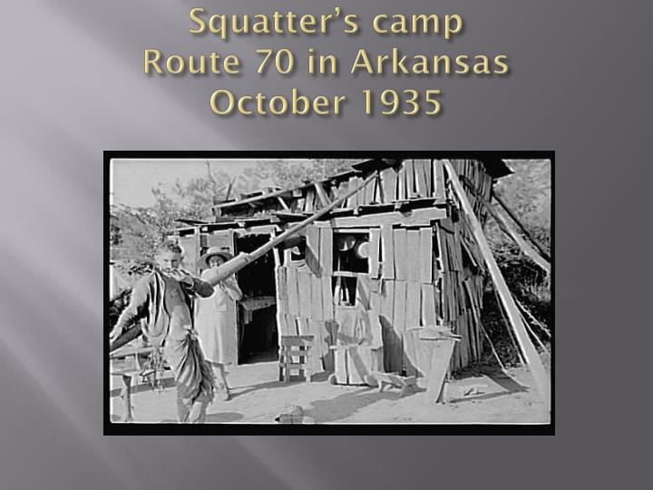 Squatter's camp