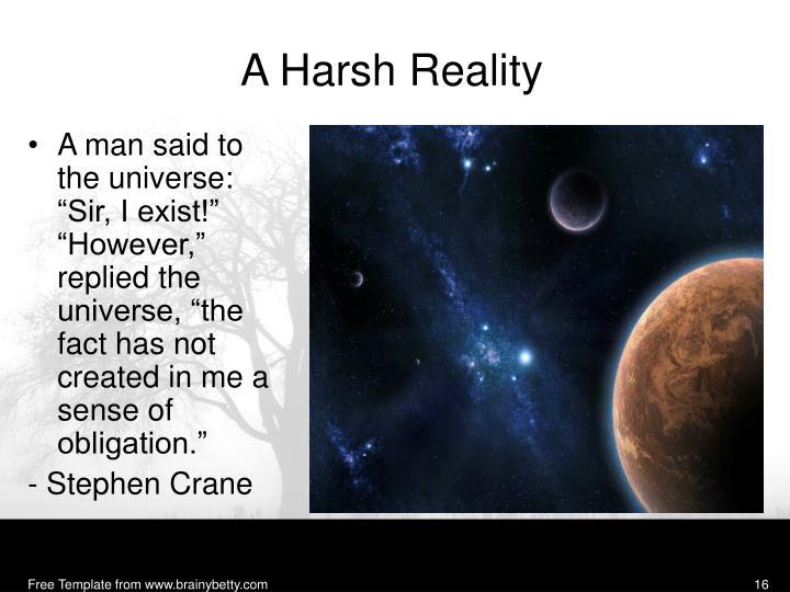 A Harsh Reality