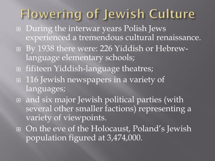 Flowering of Jewish Culture