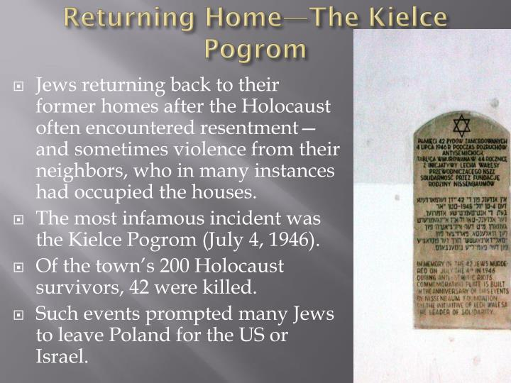Returning Home—The Kielce Pogrom