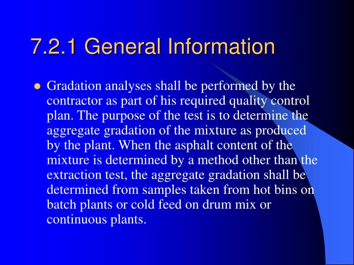 7.2.1 General Information
