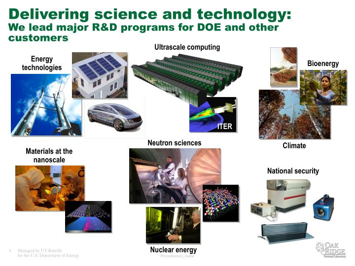Delivering science and technology: