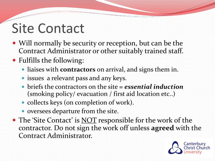 Site Contact