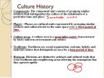 culture history1