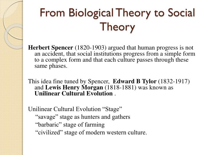 From Biological Theory to Social Theory