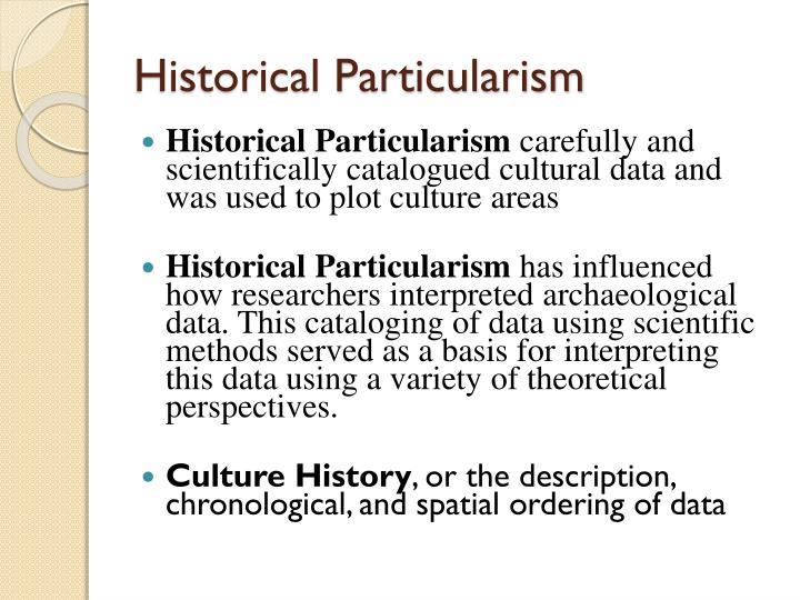 Historical Particularism