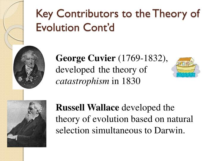 Key Contributors to the Theory of Evolution Cont'd