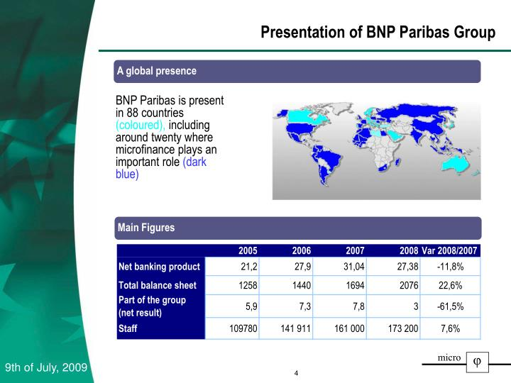 Presentation of BNP Paribas Group