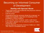 becoming an informed consumer of development