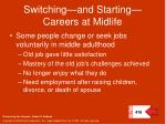 switching and starting careers at midlife