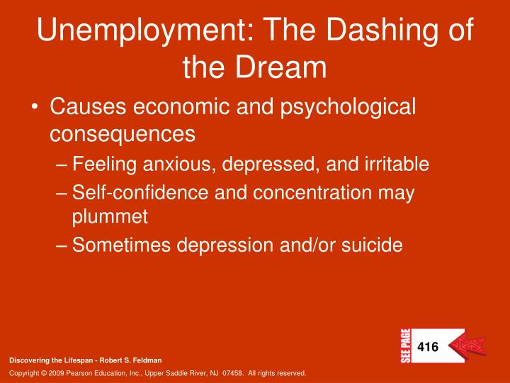 Unemployment: The Dashing of the Dream