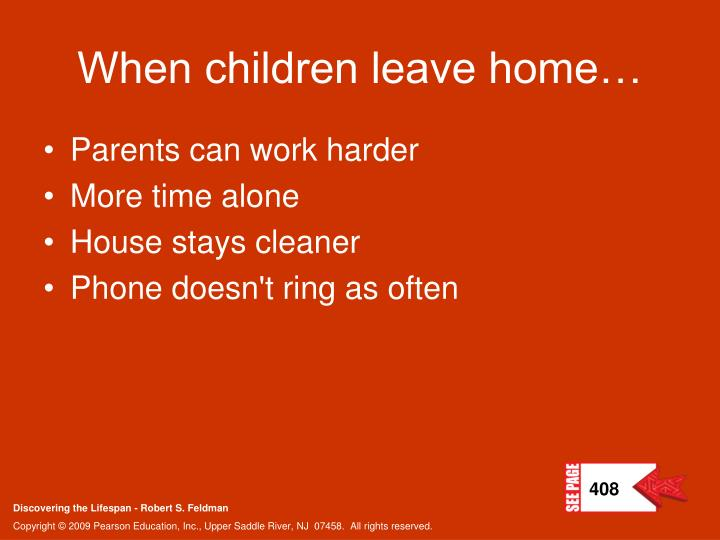 When children leave home…