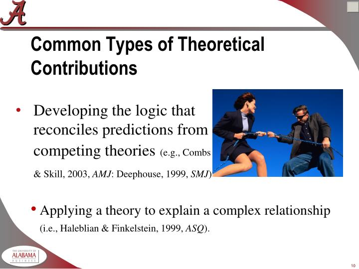 Common Types of Theoretical Contributions
