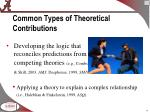 common types of theoretical contributions1