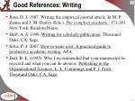 good references writing
