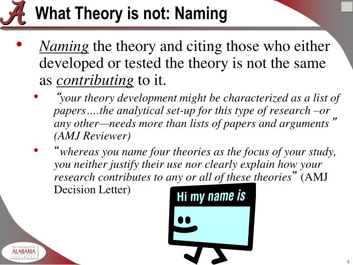 What Theory is not: Naming