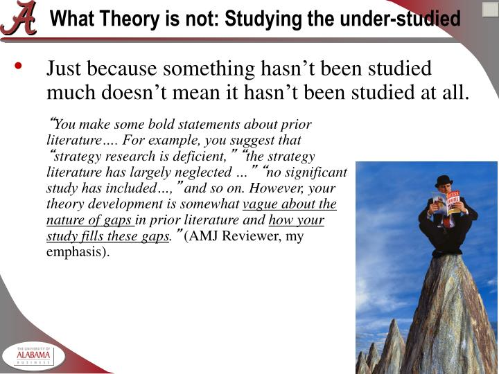 What Theory is not: Studying the under-studied