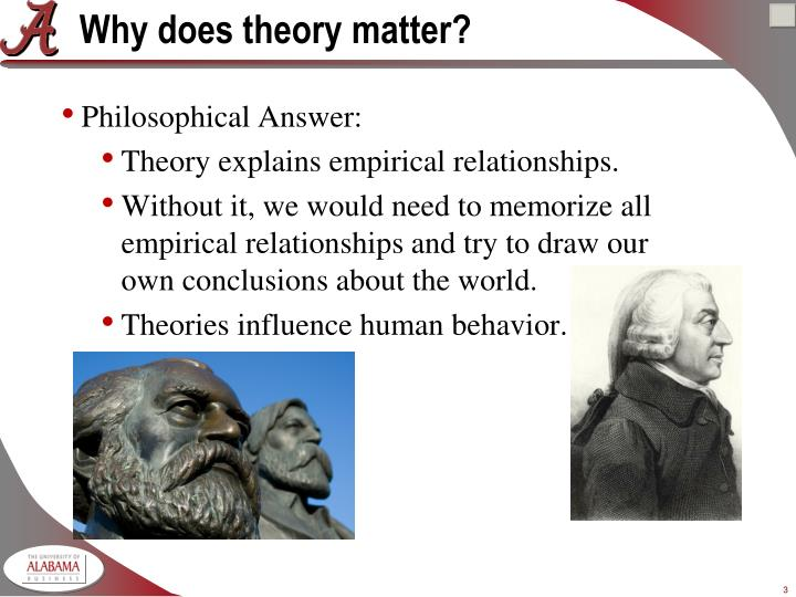 Why does theory matter
