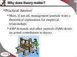 why does theory matter1