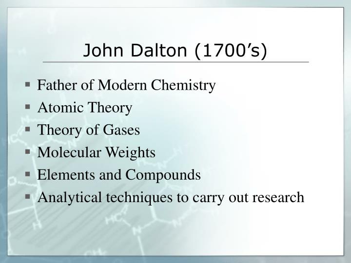 John Dalton (1700's)