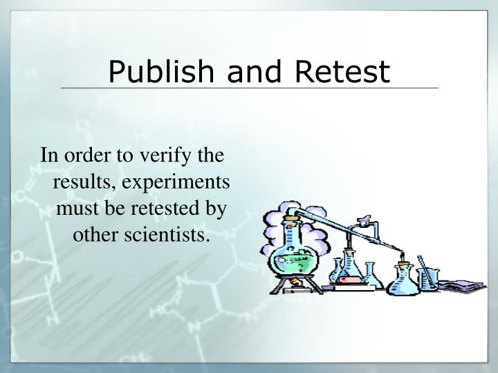 Publish and Retest