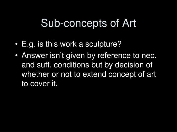Sub-concepts of Art
