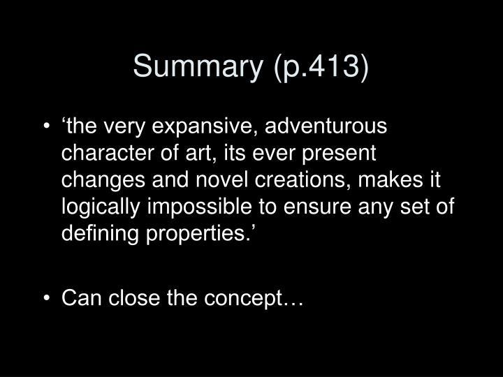 Summary (p.413)