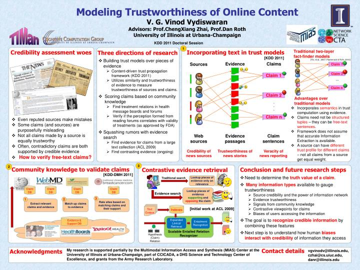 Modeling Trustworthiness of Online Content