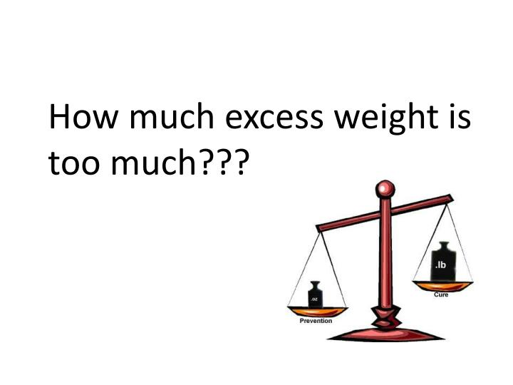 How much excess weight is too much???