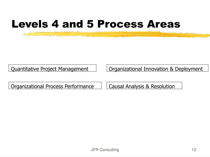 Levels 4 and 5 Process Areas