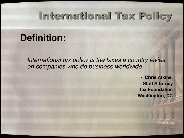 International tax policy1