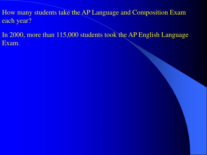 How many students take the AP Language and Composition Exam