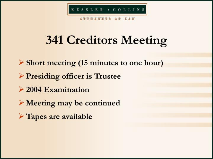 341 Creditors Meeting